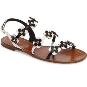 Kate Spade black white floral sandal size 6